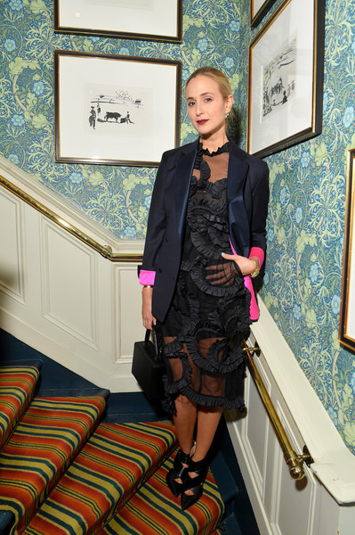Elisabeth von Thurn und Taxis Blazer [clothing,fashion,lady,outerwear,leg,dress,fashion design,suit,formal wear,jacket,youtube fashion beauty after party,victoria beckham,david beckham,derek blasberg,elisabeth von thurn und taxis,marks club,london,england,london fashion week]