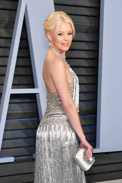 Elizabeth Banks Satin Purse [oscar party,vanity fair,hair,human hair color,beauty,blond,lady,girl,hairstyle,shoulder,gown,fashion model,beverly hills,california,wallis annenberg center for the performing arts,radhika jones - arrivals,radhika jones,elizabeth banks]