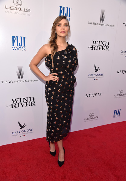 Elizabeth Olsen One Shoulder Dress