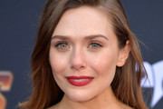 Elizabeth Olsen Long Side Part
