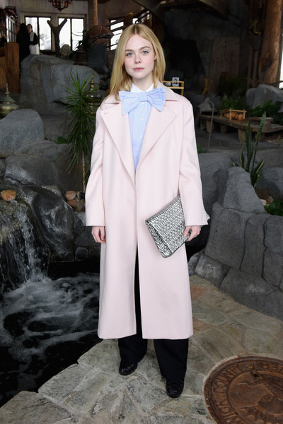 Elle Fanning Quilted Clutch