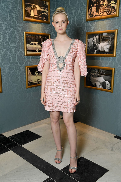 Elle Fanning Sequin Dress