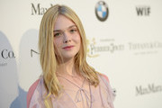 Elle Fanning Long Center Part