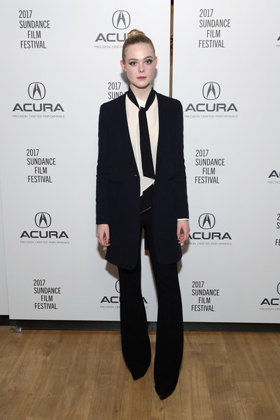 Elle Fanning Wide Leg Pants