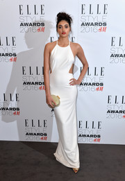 Neelam Gill was white-hot in a halterneck cutout gown while attending the Elle Style Awards.