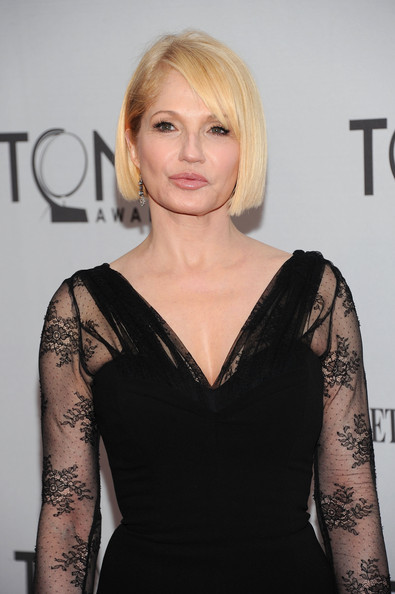 Ellen Barkin Dangling Diamond Earrings