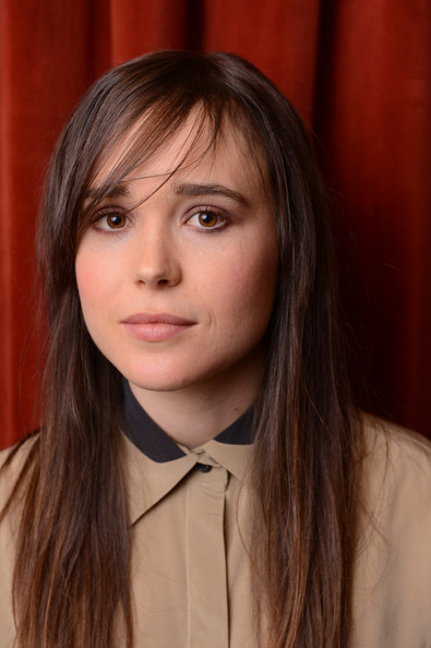 Ellen Page Long Straight Cut with Bangs