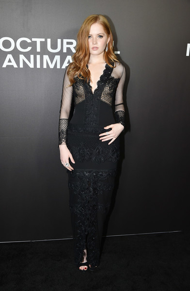 Ellie Bamber Lace Dress