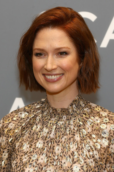 Ellie Kemper Bob [hair,hairstyle,eyebrow,hair coloring,brown hair,blond,chin,lip,long hair,layered hair,ellie kemper,unbreakable kimmy schmidt,spotlight award presentation,honoree,scadshow,georgia,atlanta,scad atvfest]