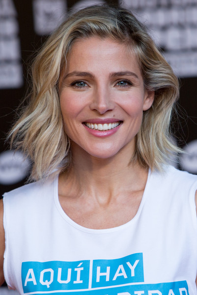 Elsa Pataky Short Wavy Cut [hair,face,blond,hairstyle,eyebrow,beauty,chin,smile,brown hair,surfer hair,elsa pataky,madrid,spain,la caja magica,tournament,charity day tennis,charity day tennis tournament,mutua madrilena open]