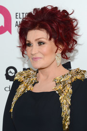 Sharon Osbourne went glam with this curly 'do at the 2014 Elton John AIDS Foundation Oscar-viewing party.