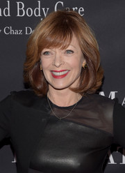 Frances Fisher sported bouncy waves and wispy bangs at the Pink Party.