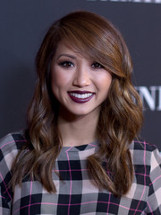 Brenda Song looked super sweet with her side-parted waves at the Pink Party.