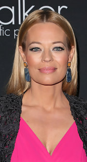 Jeri painted her lips a glossy pink for the Pink Party benefit.