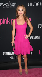 Giada looked like a doll in this hot pink tiered dress at the Pink Party benefit.