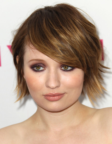 Emily Browning Jewel Tone Eyeshadow [sucker punch,face,hair,eyebrow,hairstyle,chin,blond,forehead,bangs,head,lip,emily browning,cast,cast,tru hollywood,hollywood,california,party,nylon magazine,anniversary issue party]