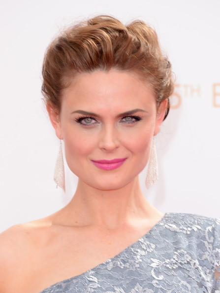Emily Deschanel Bobby Pinned Updo