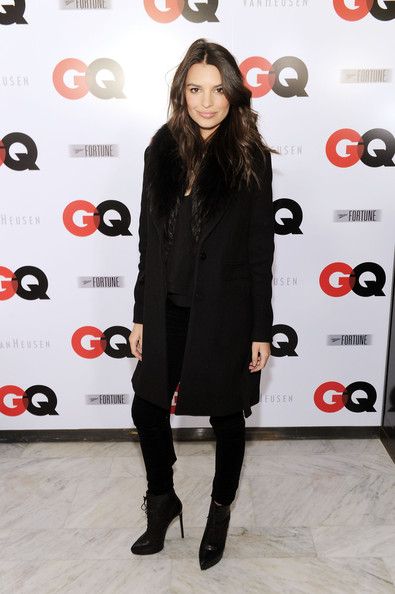 Emily Ratajkowski Lace Up Boots [clothing,red,footwear,fashion,knee-high boot,dress,joint,tights,little black dress,high heels,gq super bowl party,miller fortune,patron tequila,new york city,van heusen,emily ratajkowski,miller fortune - arrivals]