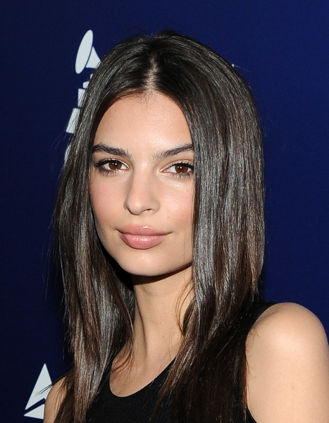 Emily Ratajkowski Long Straight Cut [hair,face,eyebrow,hairstyle,lip,chin,beauty,layered hair,nose,forehead,charli xcx,emily ratajkowski,grammy,model,performance,west hollywood,delta air lines,airline,celebration,kick-off party]