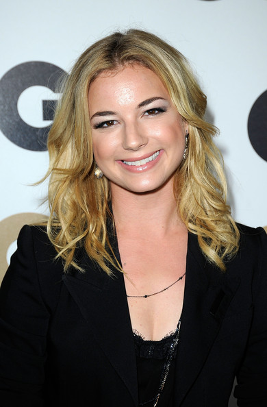 Emily VanCamp Dangling Gemstone Earrings