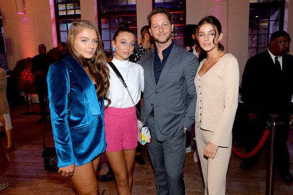 Emma Chamberlain Short Shorts [event,fashion,party,performance,suit,leisure,fashion design,emma chamberlain,r,derek blasberg,youtube.com/fashion launch,new york city,2nd l,launch]