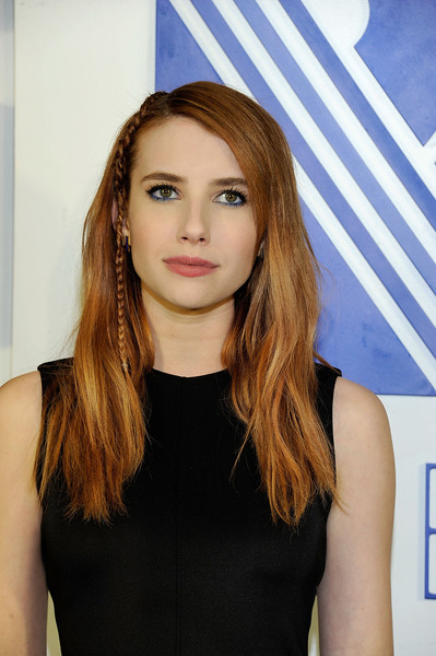 Emma Roberts Long Partially Braided