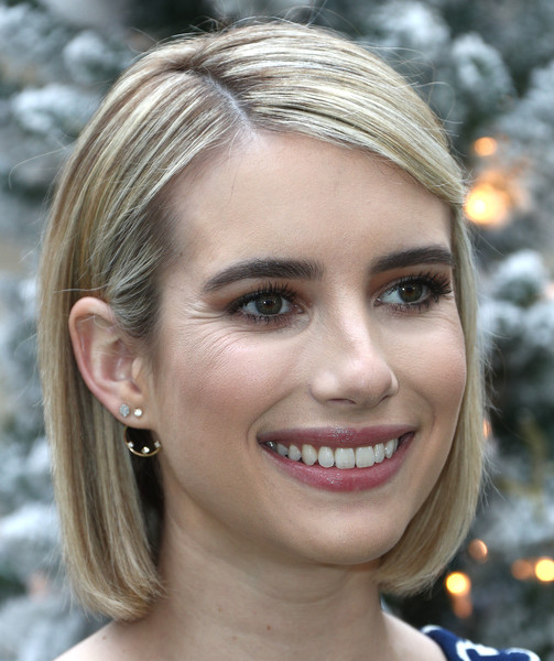 Emma Roberts Bob [hair,face,eyebrow,hairstyle,lip,blond,chin,skin,beauty,forehead,brooks brothers hosts annual holiday celebration,benefit st. jude,los angeles,beverly wilshire four seasons hotel,beverly hills,california,brooks brothers host annual holiday celebration,emma roberts,los angeles to benefit st. jude - arrivals]