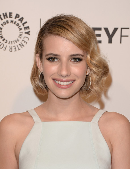 Emma Roberts Curled Out Bob