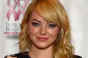 Emma Stone Long Wavy Cut with Bangs
