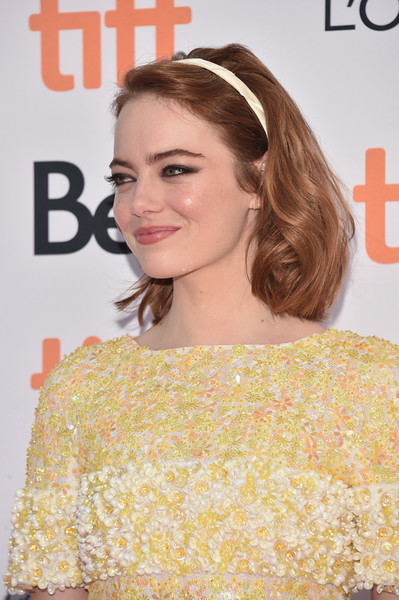 Emma Stone Short Wavy Cut