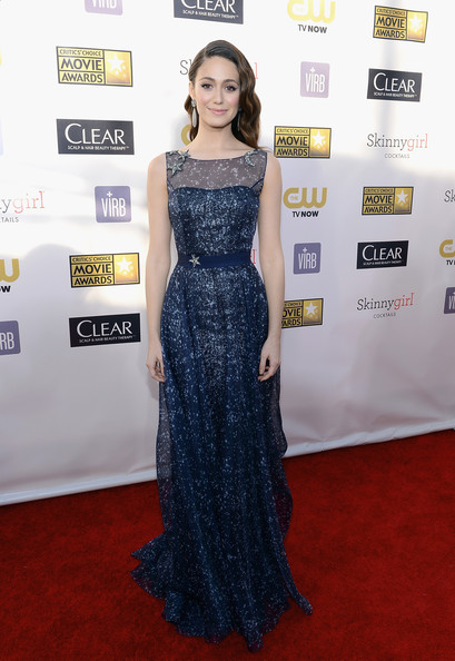 Emmy Rossum Evening Dress
