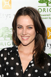 Jessica Stroup wore her hair in a casual yet cool layered cut when she attended the Origins Smartyplants event.