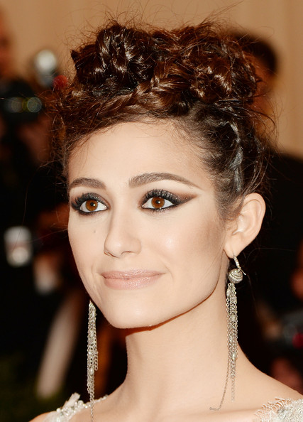 Emmy Rossum Braided Updo