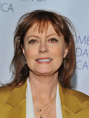 Susan Sarandon opted for a sleek and straight 'do with wispy bangs for her look at the Blossom Ball in NYC.