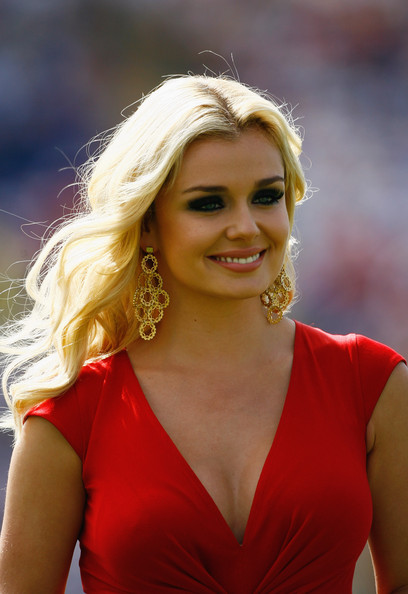 More Pics of Katherine Jenkins Gold Chandelier Earrings (1 of 3) - Katherine Jenkins Lookbook - StyleBistro