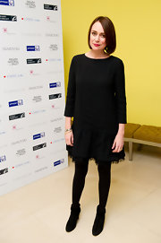 Keeley Hawes wore a black drop-waist number to the 'Nutcracker' after-party.