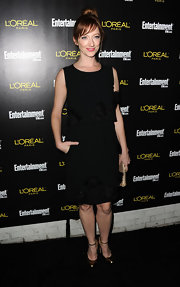 "Judy Greer dazzled in metallic gold maryjane pumps at the ""Entertainment Weekly"" SAG Awards party."
