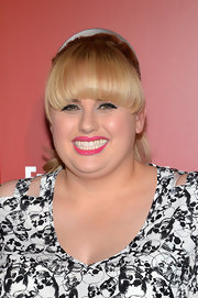 Rebel Wilson chose a high ponytail and her signature blunt bangs for her evening look at ABC's Upfront party in NYC.