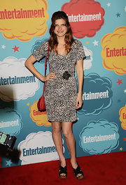Lake donned a funky leopard-print frock at EW's Comic-Con celebration.