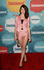 Crystal's pretty pink short suit was red carpet right while still being super summery.
