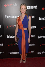 Joanne Froggatt made an electrifying choice with this color-block cutout dress by Roksanda for the Entertainment Weekly SAG Awards nominee celebration.