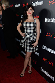 Ariel Winter went for a '50s vibe in a black-and-white checkered halter dress during the Entertainment Weekly SAG nominees celebration.