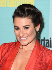 Lea Michele wore a boho-glam braided updo to the Entertainment Weekly Comic-Con party.