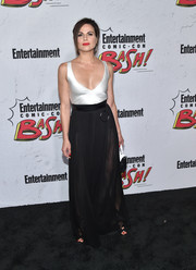 Lana Parrilla looked downright fab in a skintight, low-cut satin top at the Entertainment Weekly Comic-Con party.