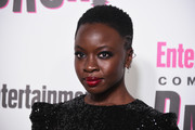 Danai Gurira sported a buzzcut at the Entertainment Weekly Comic-Con celebration.