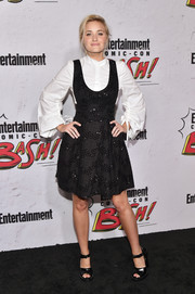Amanda Michalka was preppy in a Milly LBD layered over a white shirt at the Entertainment Weekly Comic-Con party.