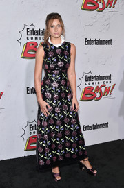 Alyson Michalka looked picture-perfect in a floral sequin dress by Giuseppe di Morabito at the Entertainment Weekly Comic-Con party.