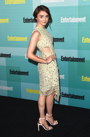 Maisie Williams chose a fun and flirty mesh-overlay cutout dress by Alexander Lewis for her Entertainment Weekly Comic-Con party look.