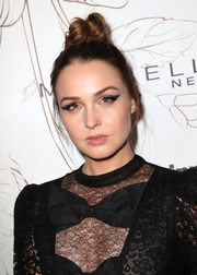 Camilla Luddington styled her hair into a funky top knot for Entertainment Weekly's SAG Awards nominees celebration.