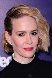 Sarah Paulson looked punky with her half-slicked-back waves at the Entertainment Weekly and People celebration of the New York Upfronts.